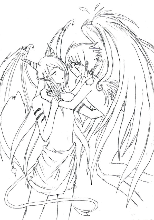600x859 Devil Endrance X Angel Haseo By Vladmeer Deathangel