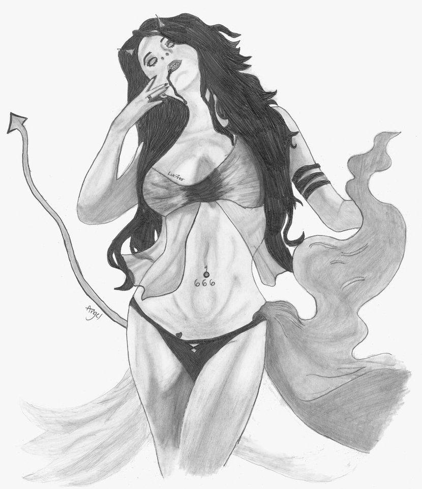 830x962 Devil Girl By Angel Sedillo