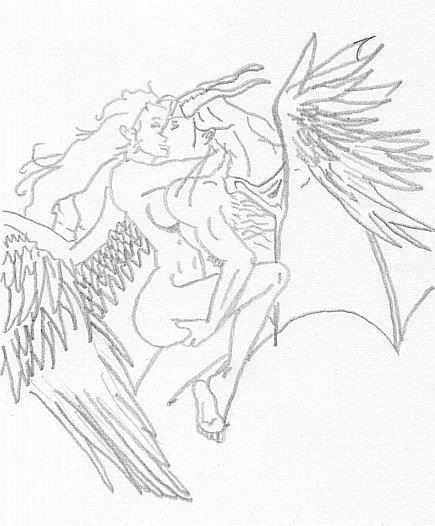 435x526 Tattoo Angeldevil By Capuxine
