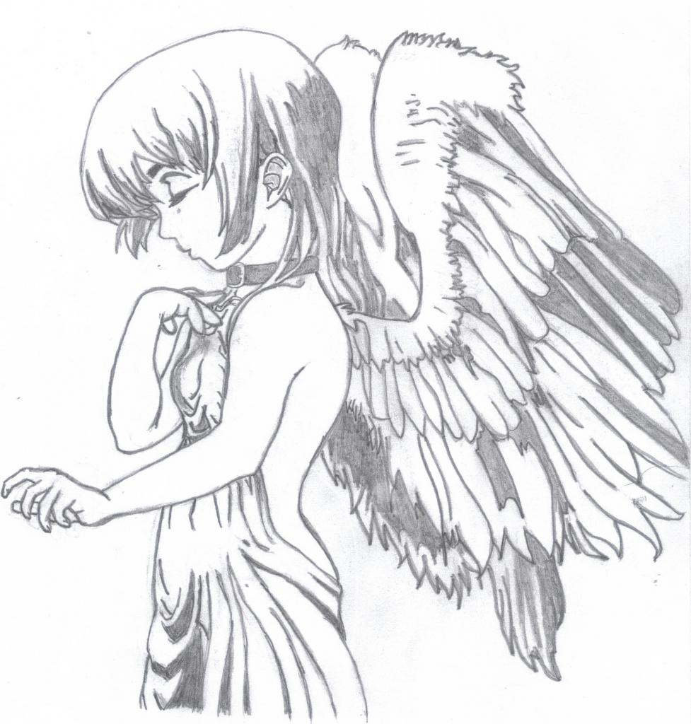977x1024 Anime Angel Drawing Anime Angel Drawing