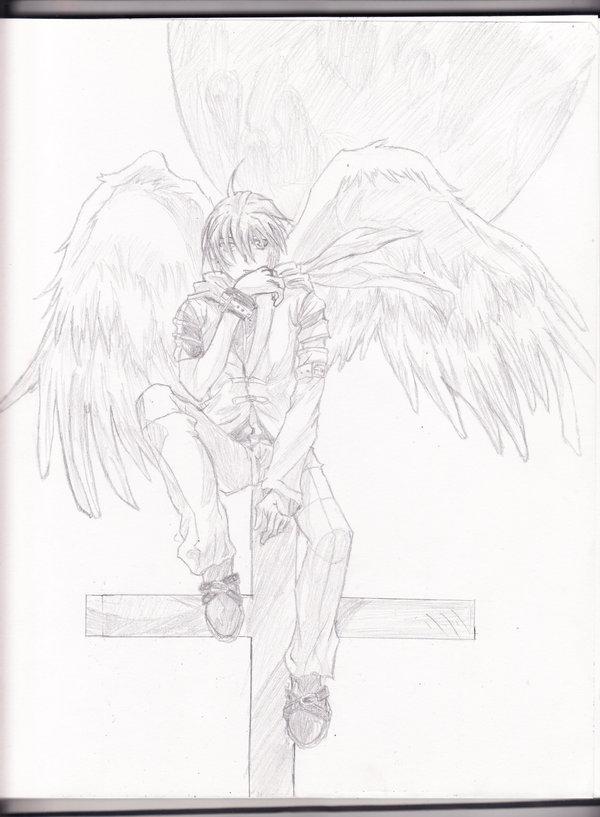 600x817 Anime Angel Boy By Aoi Ookami