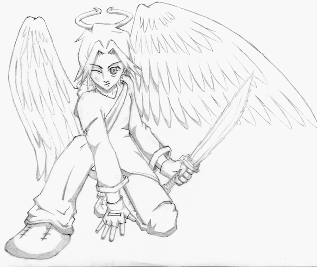 640x539 Warrior Baby Angels Coloring Pages Anime Angel Warrior