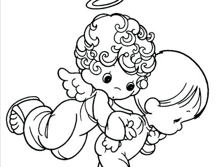 440x330 Amazing Angel Coloring Pages Kids Baby Gallery For Of Colouring S