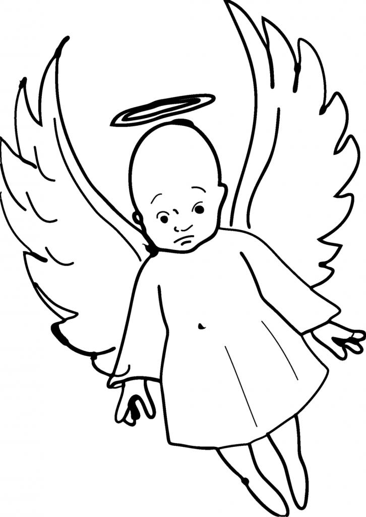726x1024 Baby Angel Drawings Ba Angel Helob