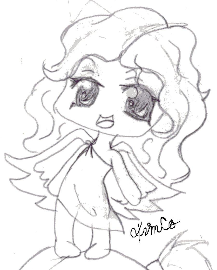 900x1122 Chibi Baby Angel Sketch By Trixy546