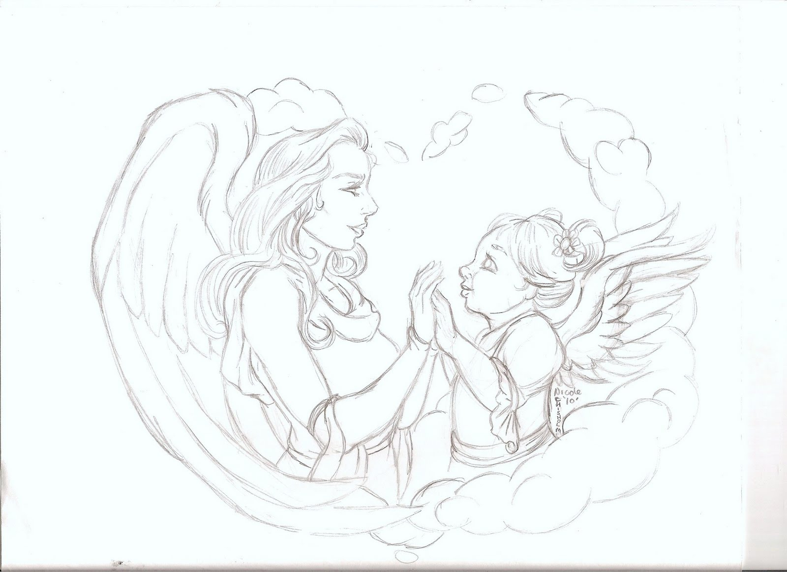 1600x1163 Drawings Of Baby Angels Baby Angel Statue Drawing