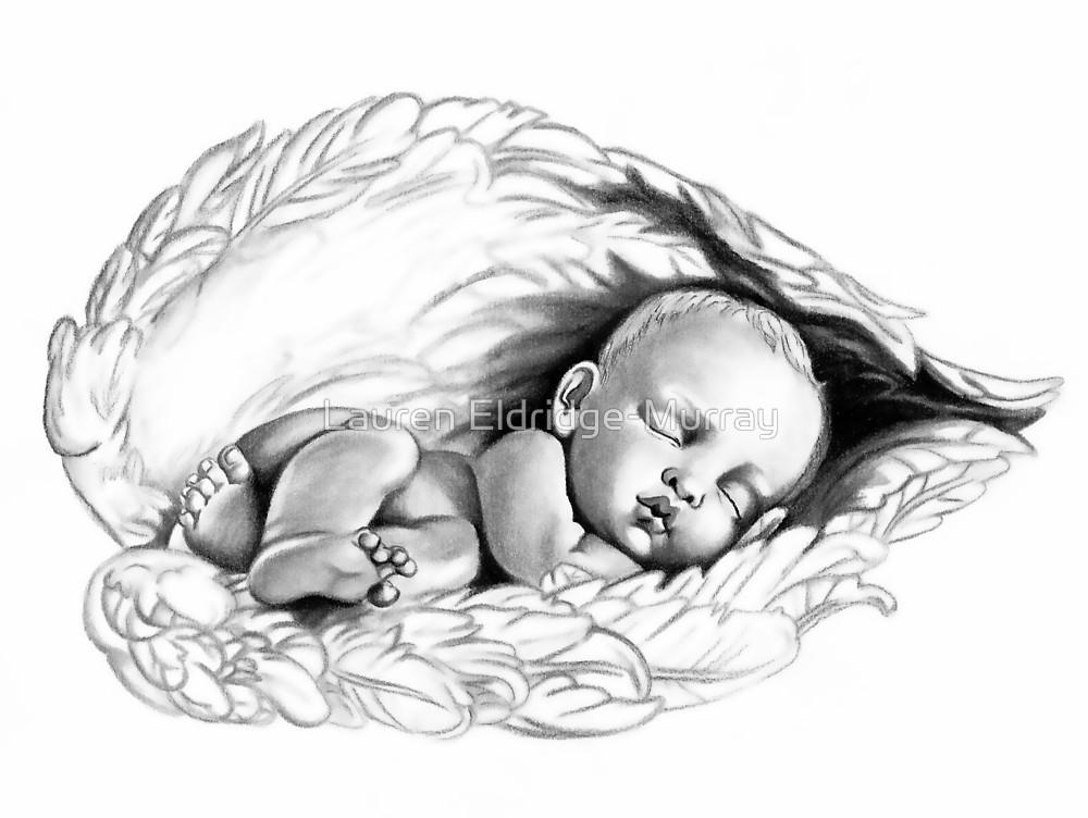1000x752 Sleeping Baby Von Lauren Eldridge Murray Art Drawling (Pencil