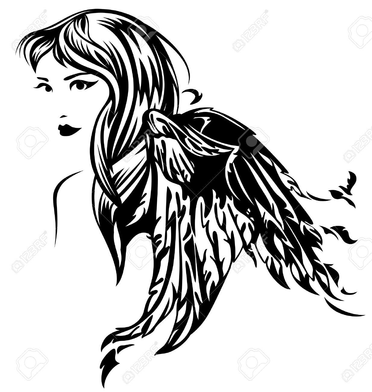 1235x1300 Beautiful Angel Girl Illustration