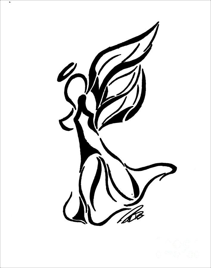 708x900 Black Angels Drawings