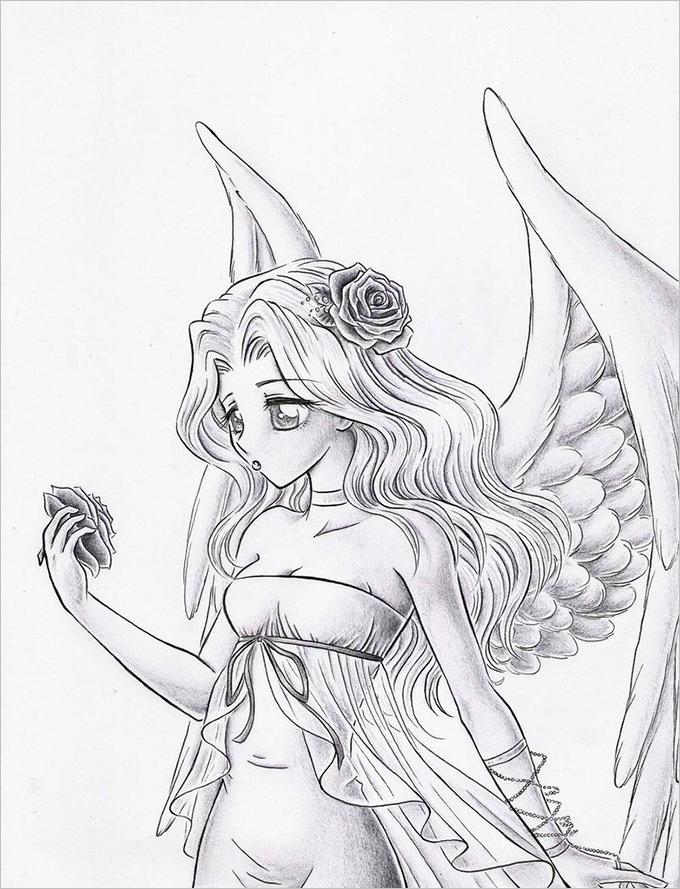 680x889 30 angel drawings