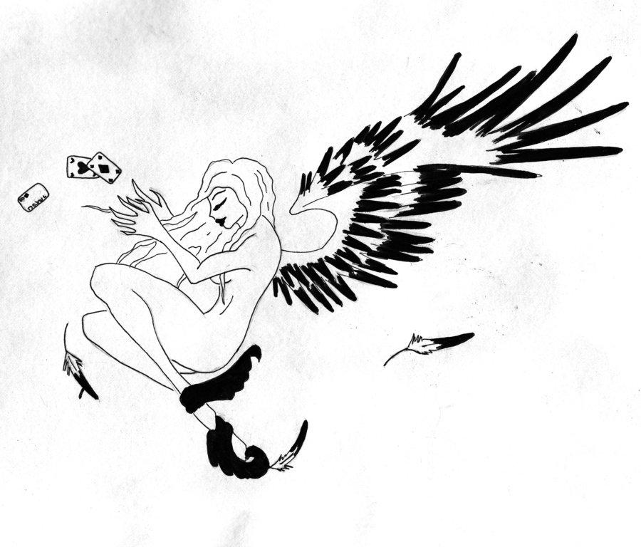 900x768 Dark Angel Black And White By Xdeathxbyxbubblesx