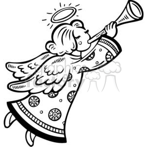 300x300 Royalty Free Christmas Angel 381107 Vector Clip Art Image