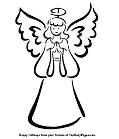 236x275 Angel Clip Art Simple Angel Clipart Black And White Free