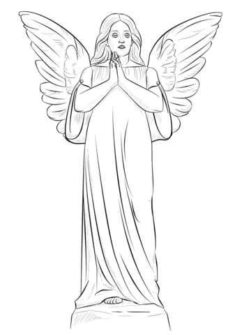 337x480 Angel Girl Coloring Page Free Printable Coloring Pages