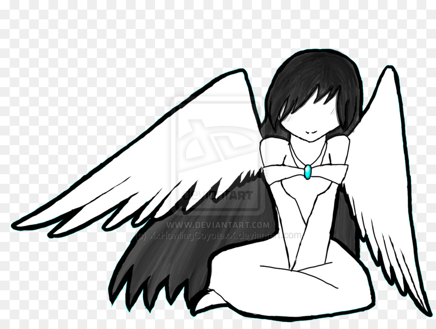 Angel Black And White Drawing At Getdrawings Com