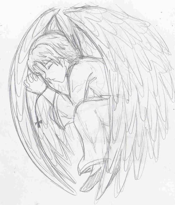 Angel Boy Drawing