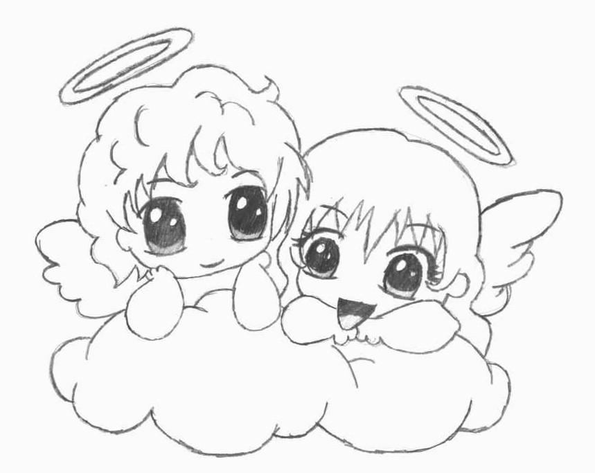 859x683 Chibi Angels By Blackcatneko