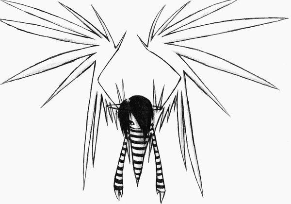 600x420 Evil Emo Angel Boy By Skissored