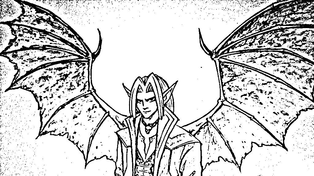 1024x576 Manga Project Angel Deamon Boy Black Bat Wings By Miriam77cissy