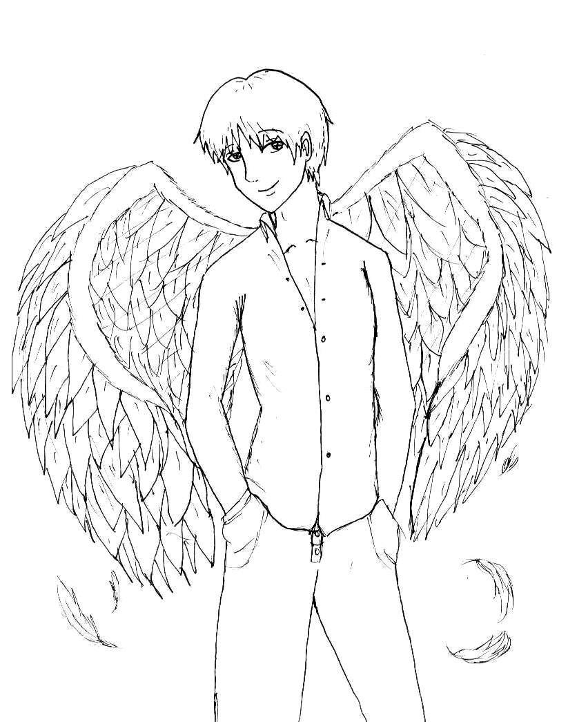 823x1045 Angel Boy By Marin217