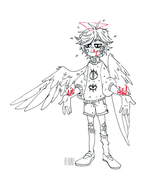 500x598 Just Angel Boy Art Angel, Creepy And Characters