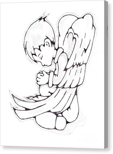 458x622 Boy Angel Drawing By Matt Sutherland
