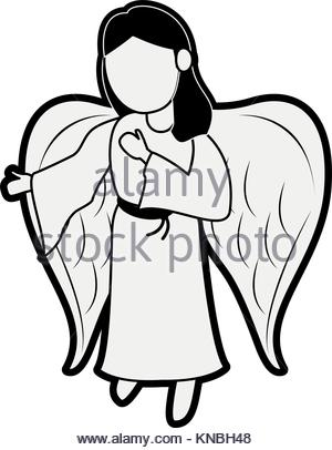 Angel Cartoon Drawing