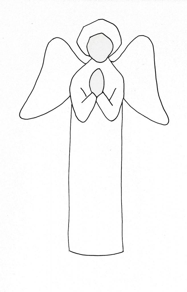 657x1024 Drawn Angel Easy Draw