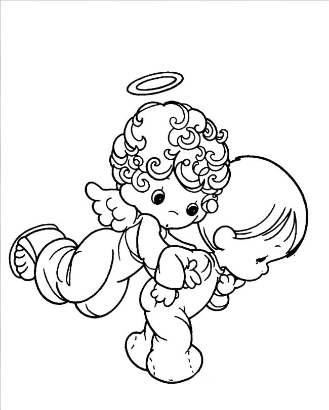 650x811 Valuable Design Ideas Baby Angel Coloring Pages Cartoon Sheets