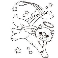 230x230 Angel Cat Drawing Pattern Template Cats And Angel