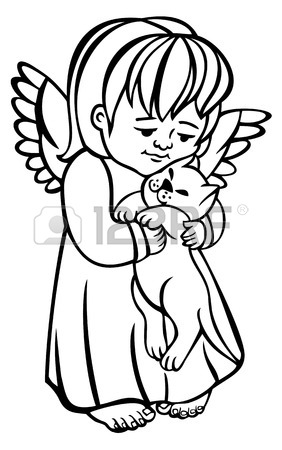 282x450 507 Angel Cat Stock Illustrations, Cliparts And Royalty Free Angel