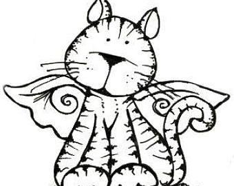 340x270 Cat Angel Topper Etsy