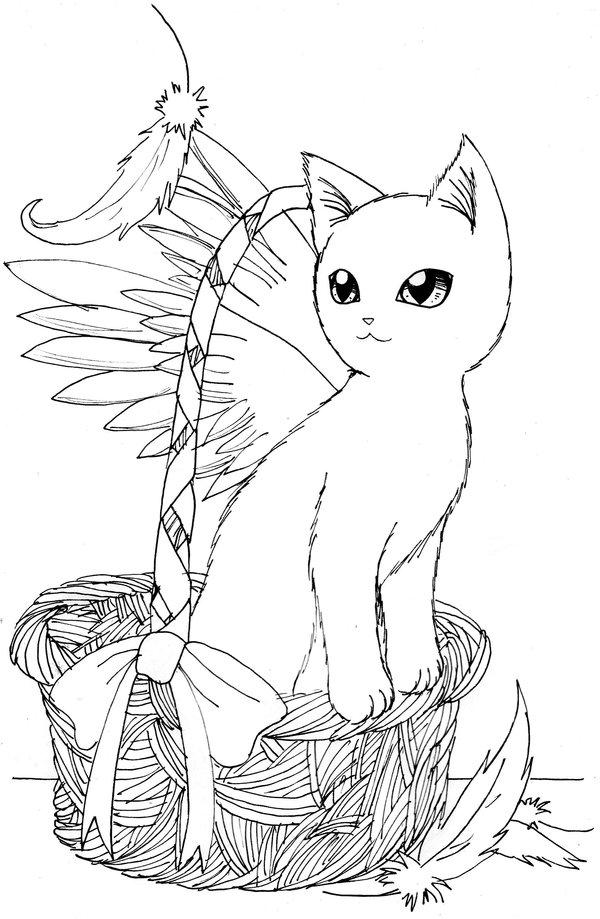 600x919 Angel's Cat By Nya Nannu