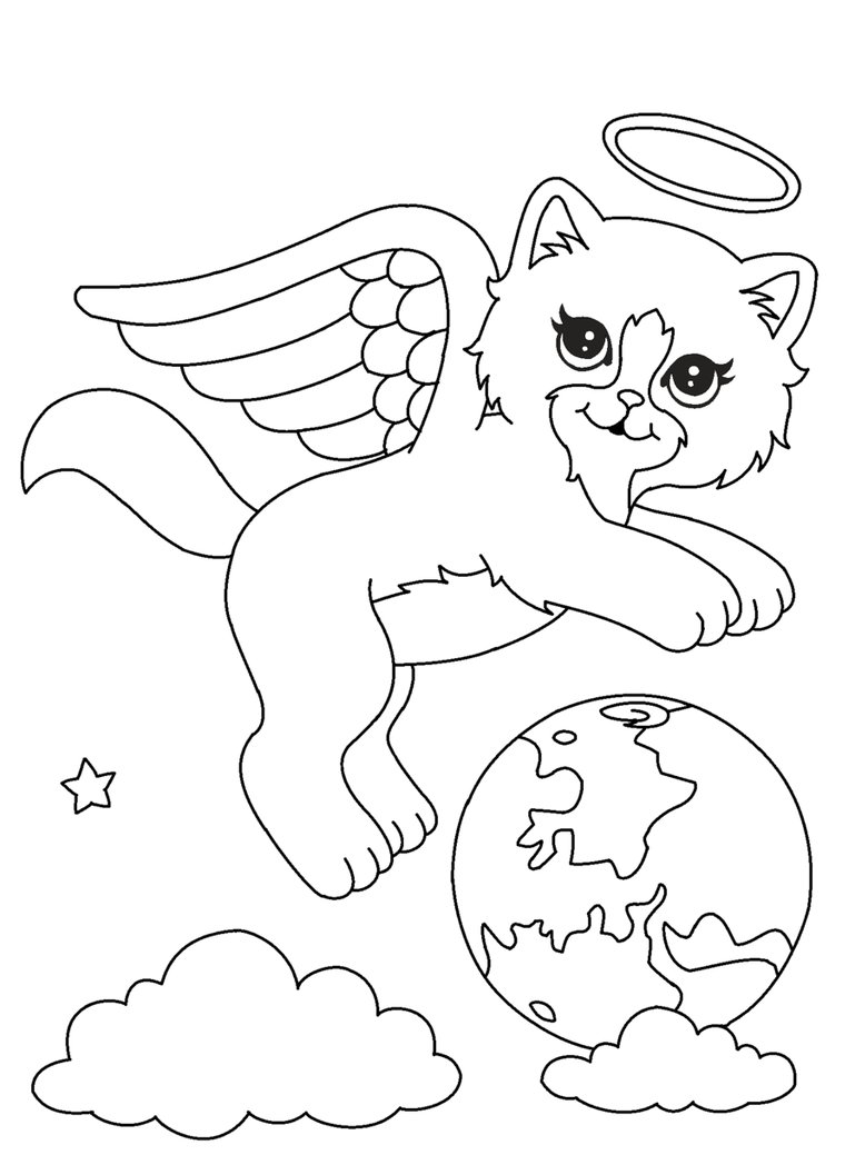 769x1039 Angel Kitty Lineart1 By Michy123
