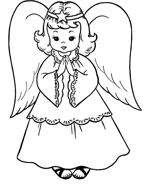 612x790 Gallery Angel Drawings For Kids,
