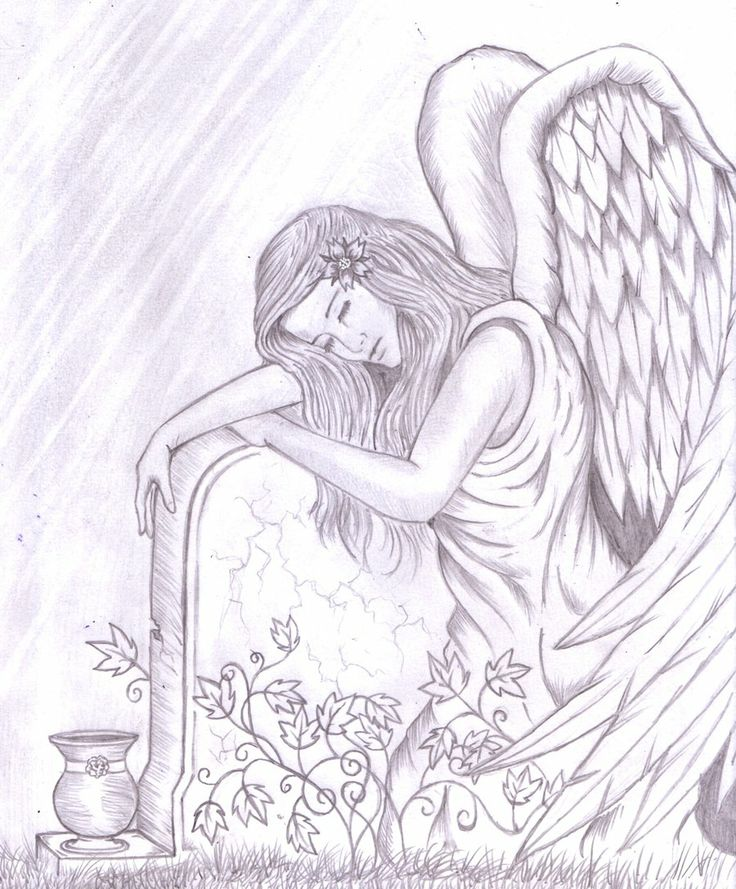 Angel Crying Drawing