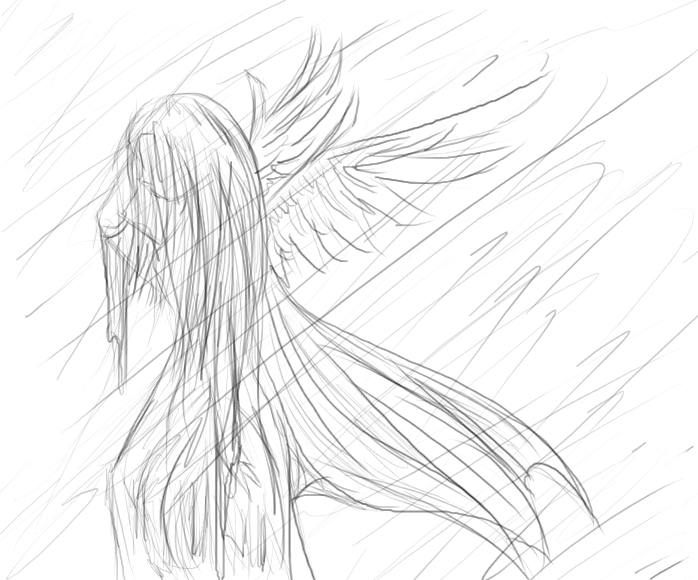 698x580 Crying Angel By Cloakwing