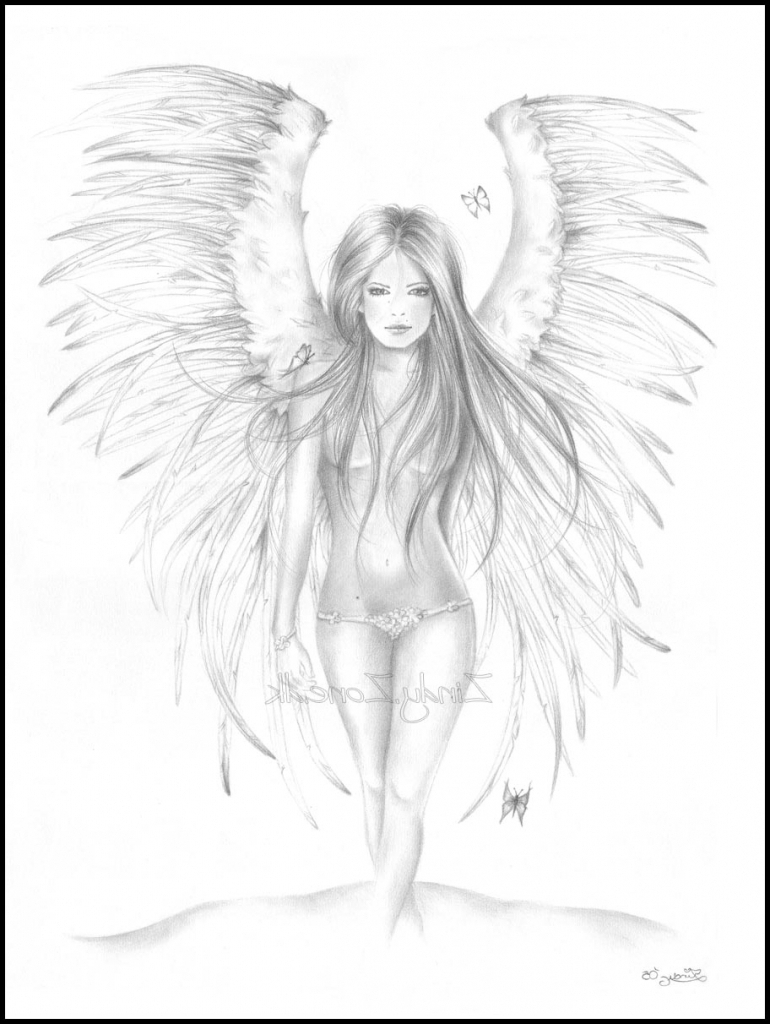 770x1024 Pencil Sketches Of Angels