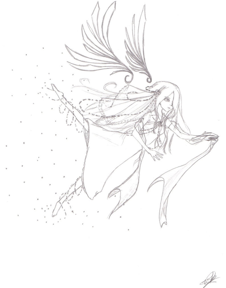 793x1008 Wind Angel Sketch By Sweetkannah