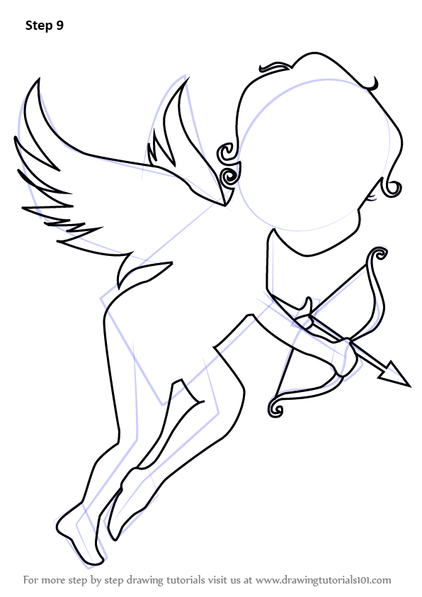 596x842 Learn How To Draw An Angel Of Love (Angels) Step By Step Drawing