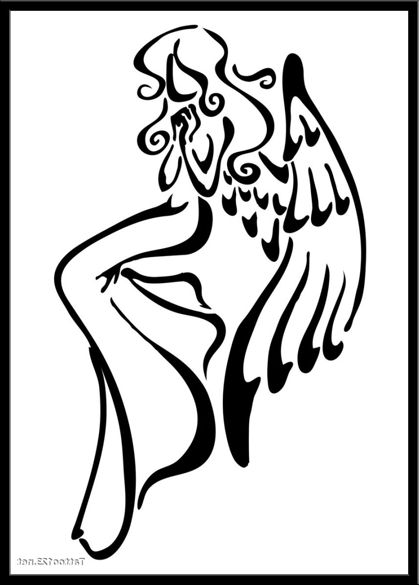 854x1191 Simple Angel Tattoo Designs Simple, Angel Drawing And Drawings