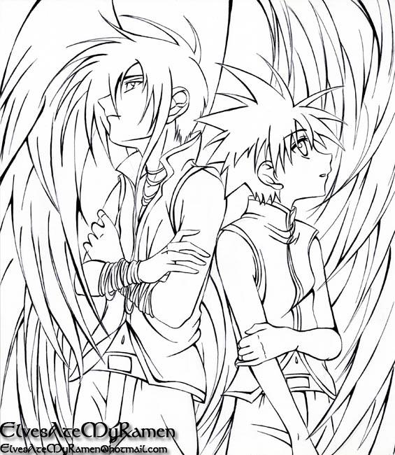 565x650 D.n.angel Lineart By Elvesatemyramen On D.n.angel
