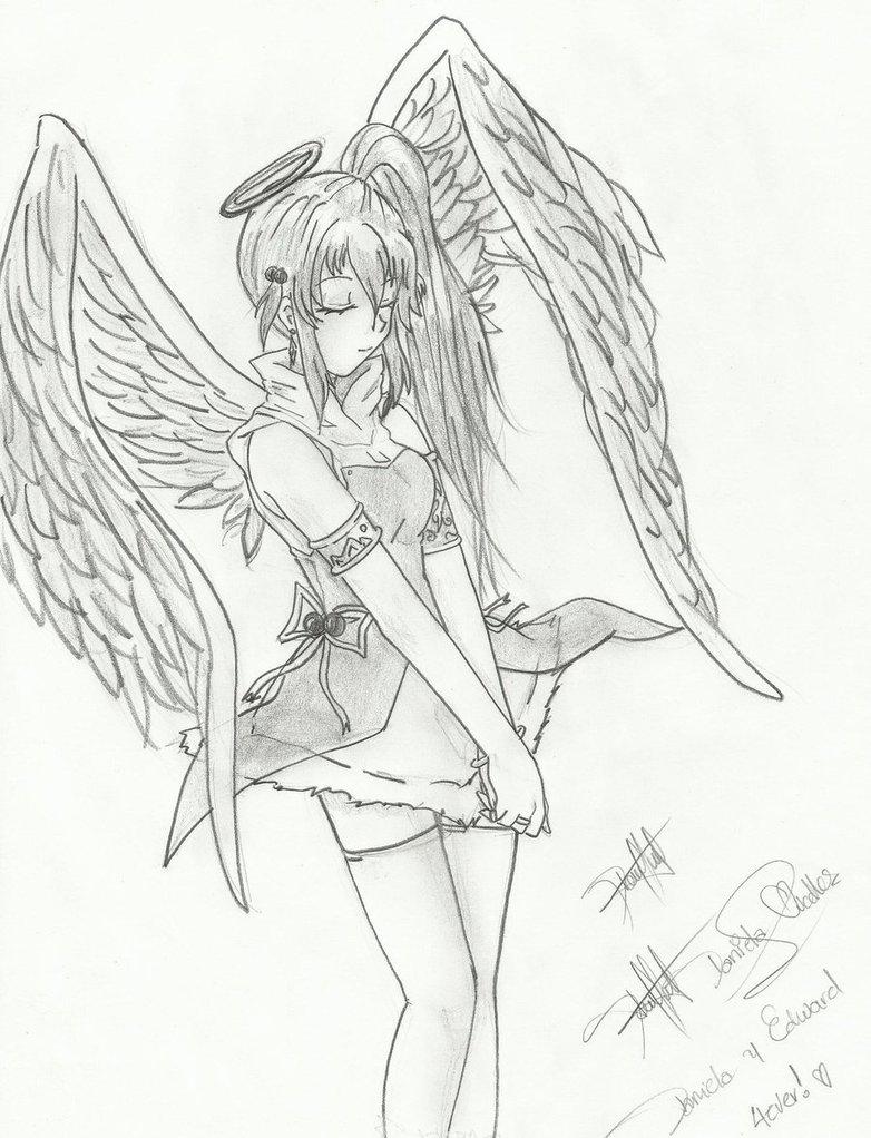 782x1022 Angel Girl Anime By Daniliov