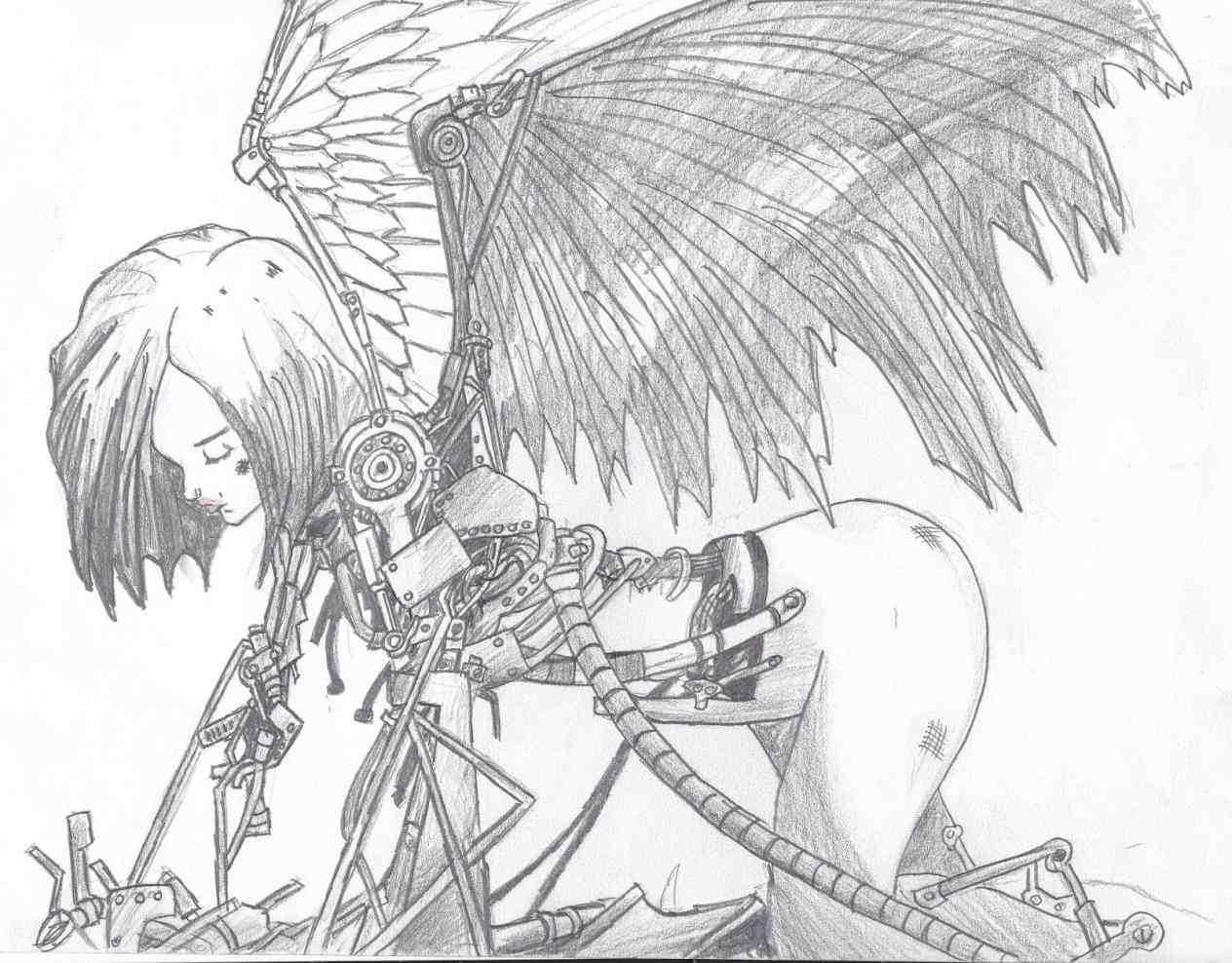 1264x988 Of Anime Angels Angel Imagefx Drawn Art U Guardian Art Drawings