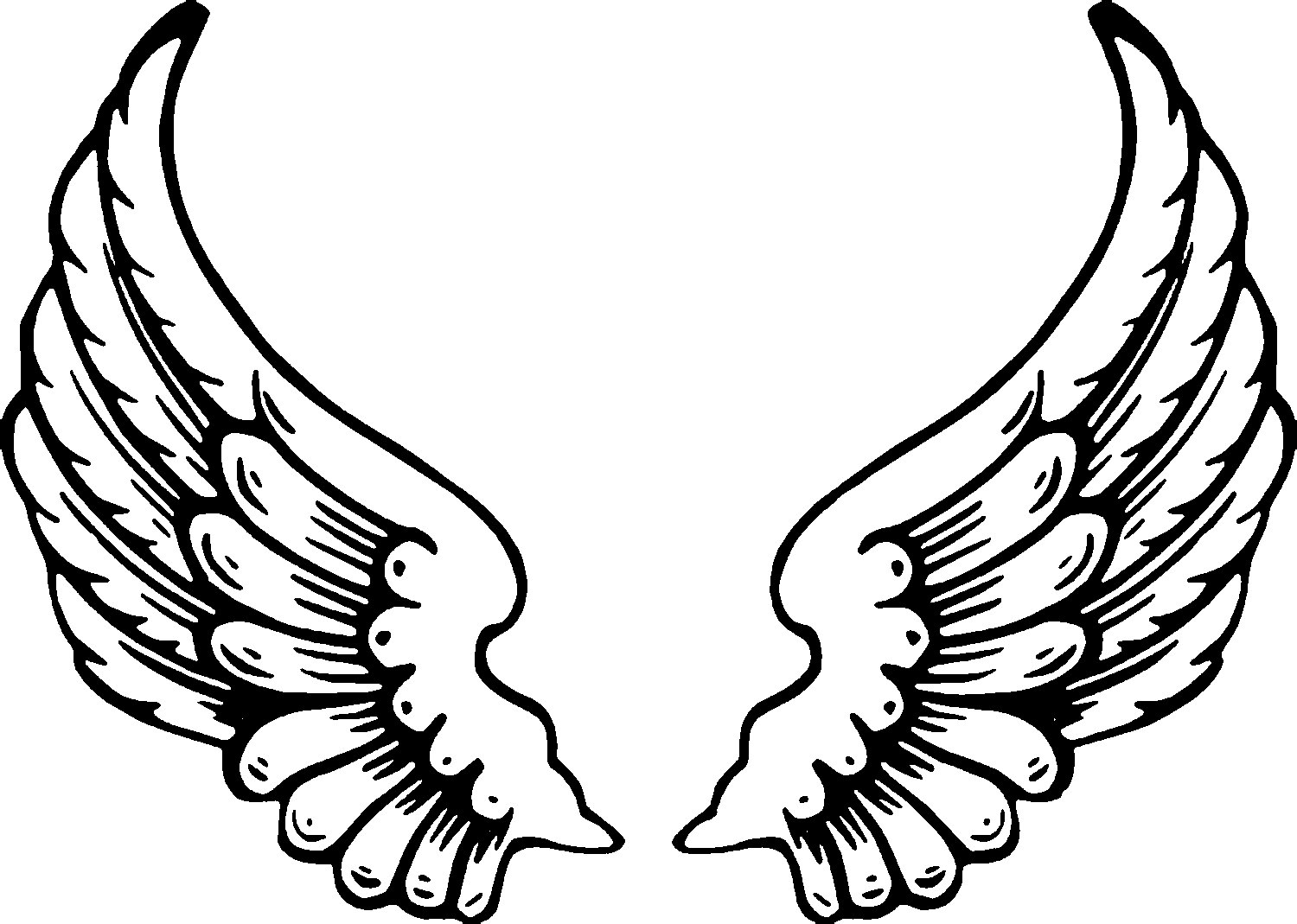1500x1069 Angel Wing Cartoon Drawings Images Angel Wings Coloring Pages 58