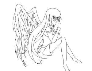 300x232 Easy Drawings To Draw Anime Angel Girl Cartoon Download