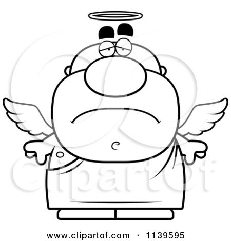 450x470 Sad Angel Clipart