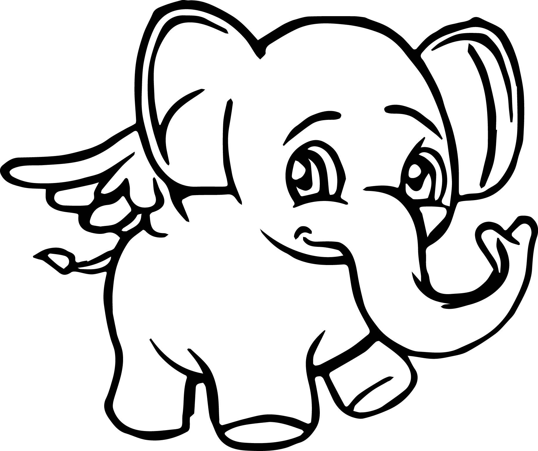 1832x1535 Angel Elephant Cartoon Coloring Page Wecoloringpage
