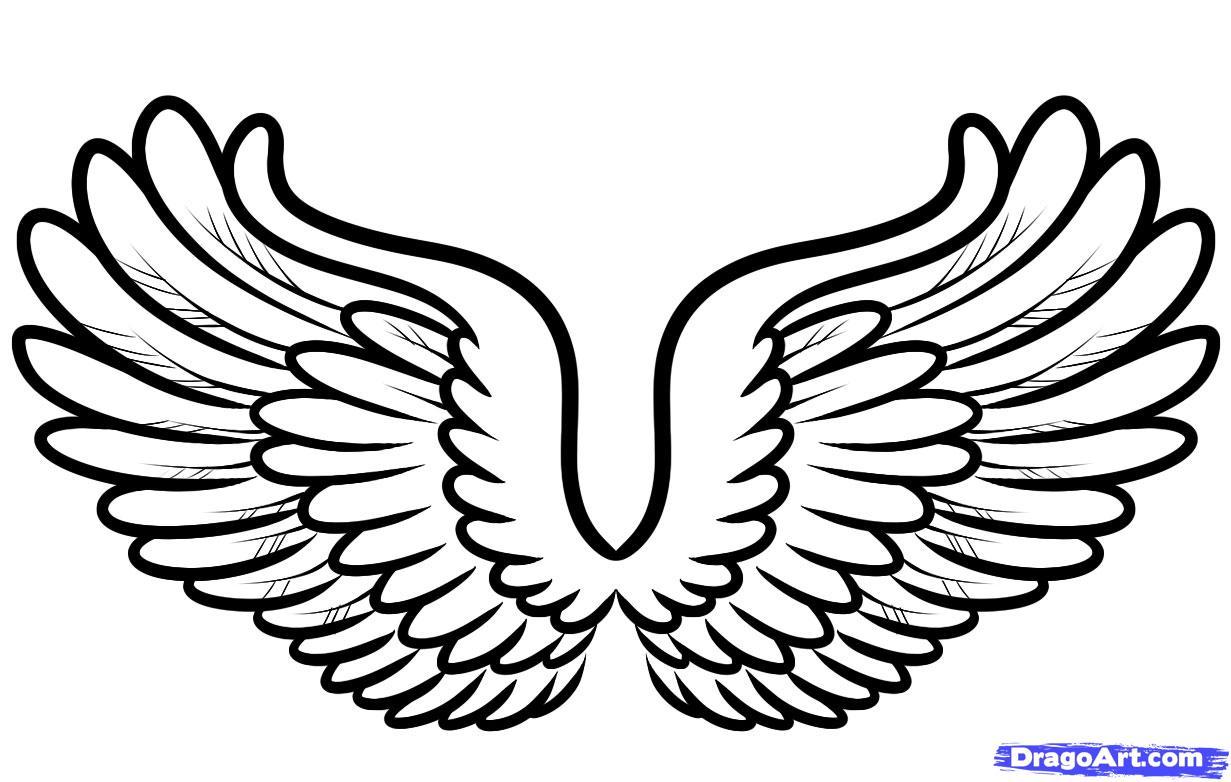 1231x782 Angel Wing Cartoon Drawings How To Draw Cartoon Wings, Stepstep