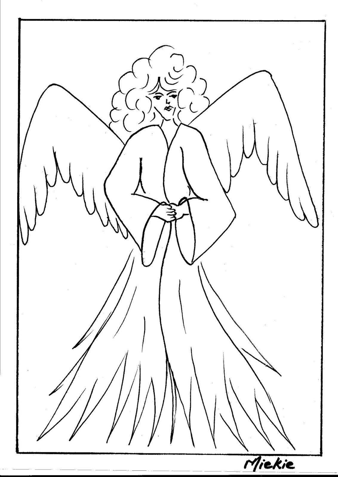 Angel Drawing Easy